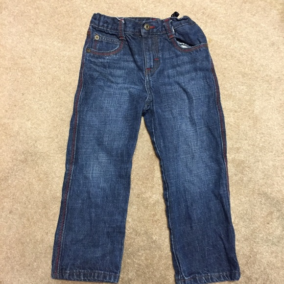 Wrangler Other - WRANGLER 5T Jeans with red and tan stitching